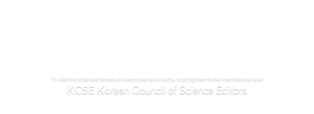 KCSE Korean Council of Science Editors
